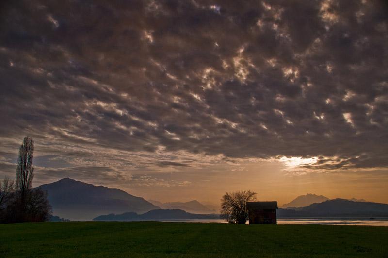 Sonnenuntergang Am Zugersee / Switzerland, Canton Of Zug, Zug