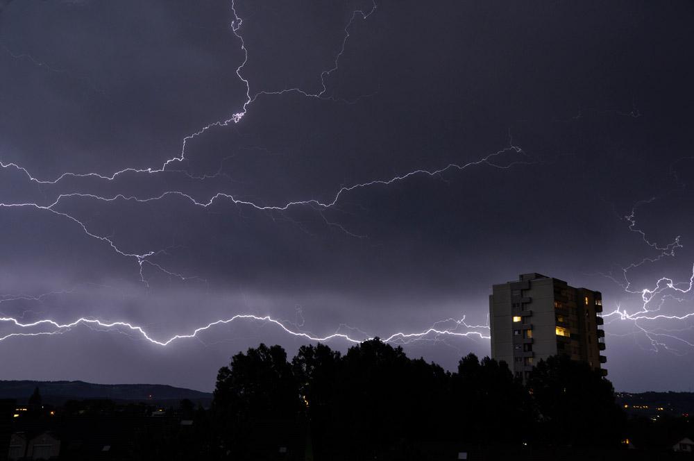 Blitz über Cham, Zug