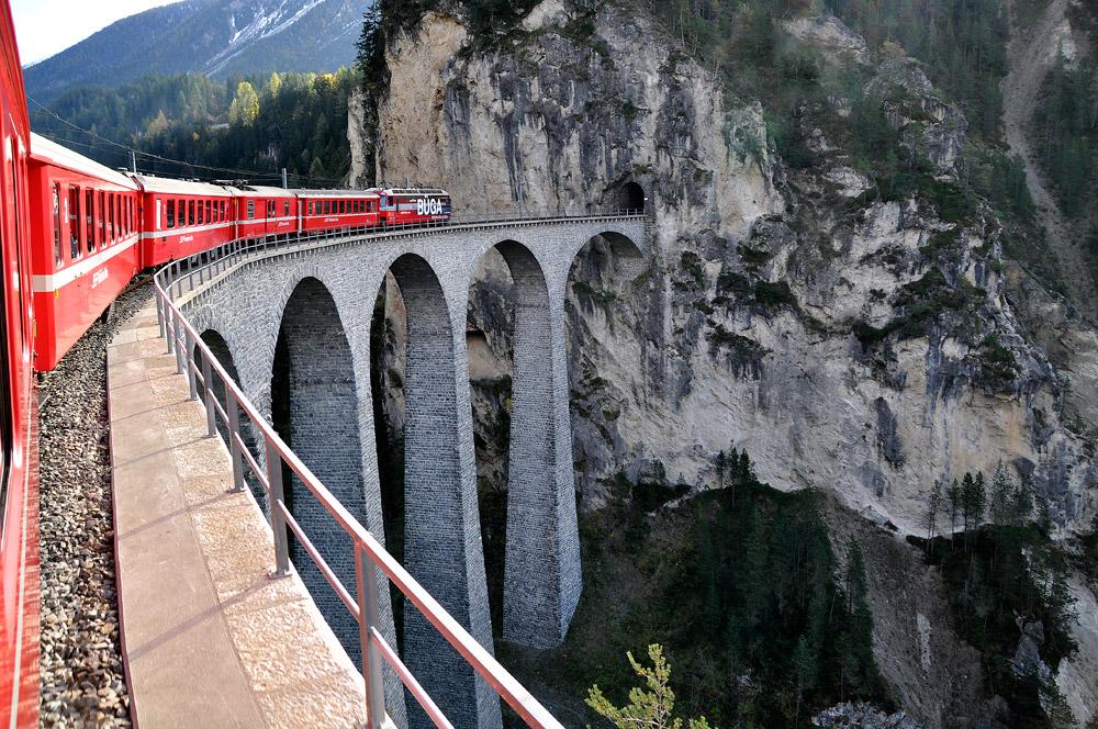 Landwasserviadukt, Albulapass, Schweiz