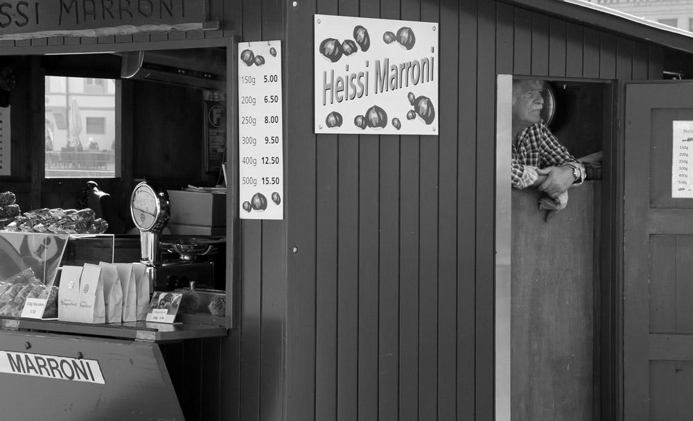 Marroni-Verkäufer, Luzern